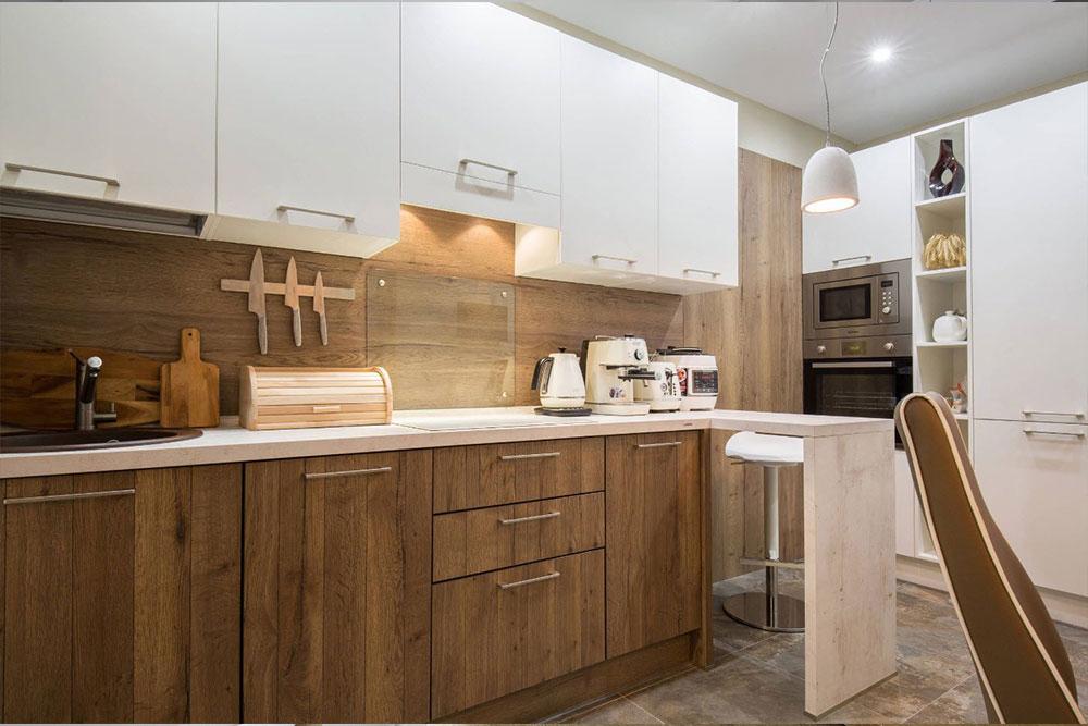 Бело деревяная кухня белая кухня с деревом фото 2, 2, Белая кухня из дерева Белая кухня из дерева на заказ
