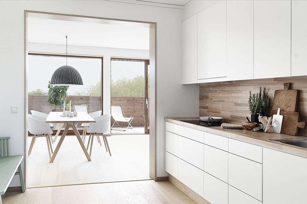 Бело деревяная кухня белая кухня с деревом фото 5, 5, Белая кухня из дерева Белая кухня из дерева на заказ