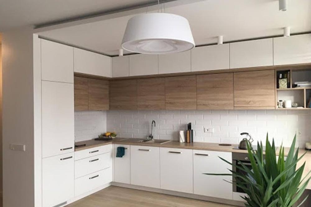 Бело деревяная кухня белая кухня с деревом фото 6, 6, Белая кухня из дерева Белая кухня из дерева на заказ