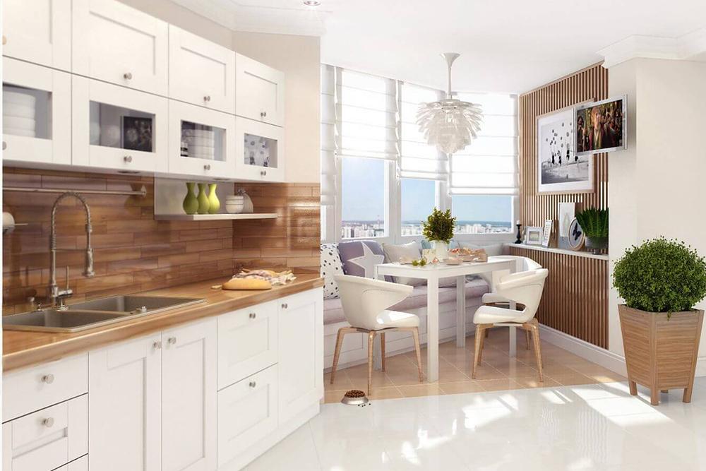 Бело деревяная кухня белая кухня с деревом фото 9, 9, Белая кухня из дерева Белая кухня из дерева на заказ