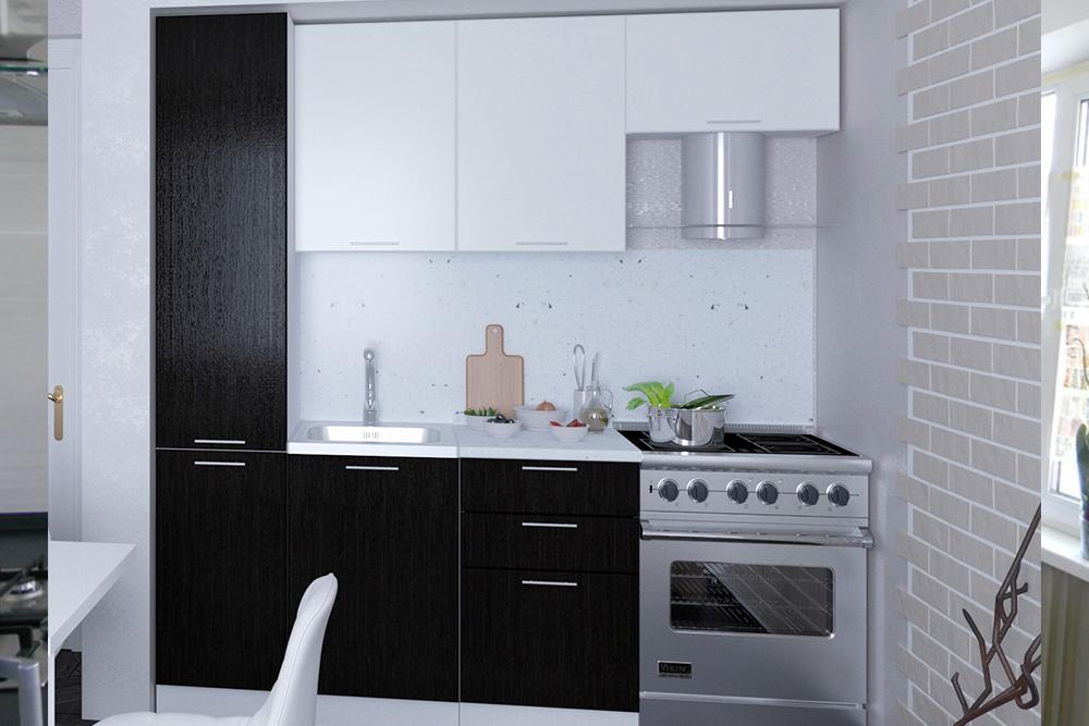 Маленькая черно белая кухня чешка хрущевка, 1, Черно-белая кухня Черно-белая кухня