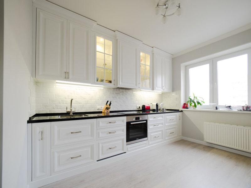 Белая классика кухня дизайн