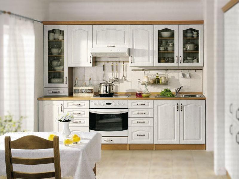 классическая глянцевая кухня, 1, Белая кухня классика