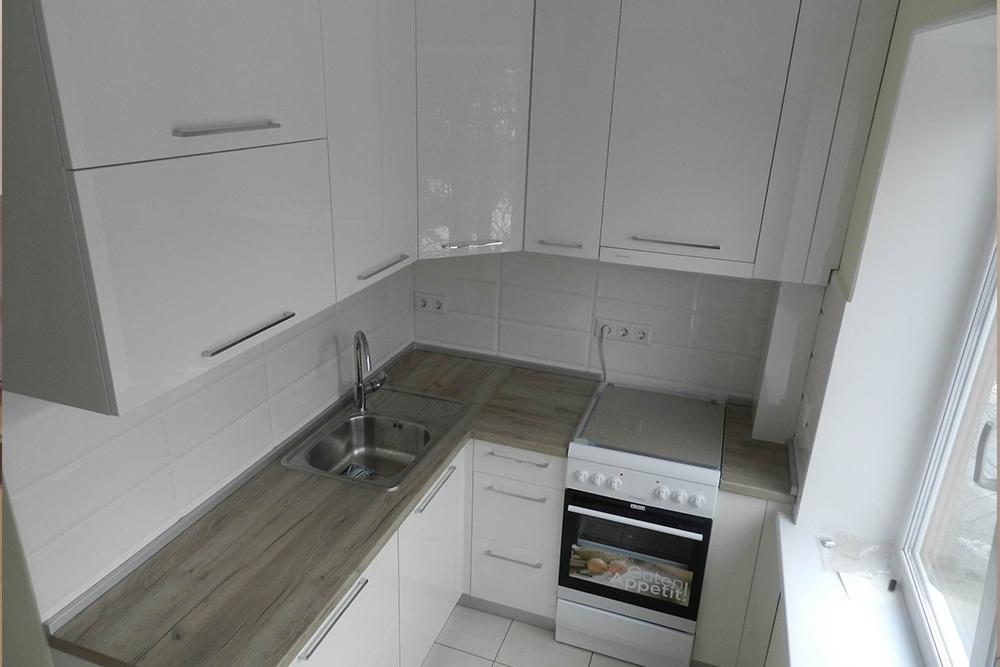 белая кухня в хрущевке