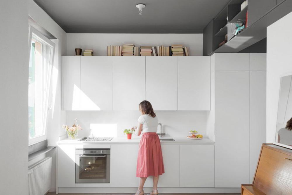 варианты белых кухонь