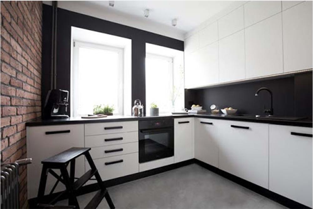 дизайн бело черных кухонь