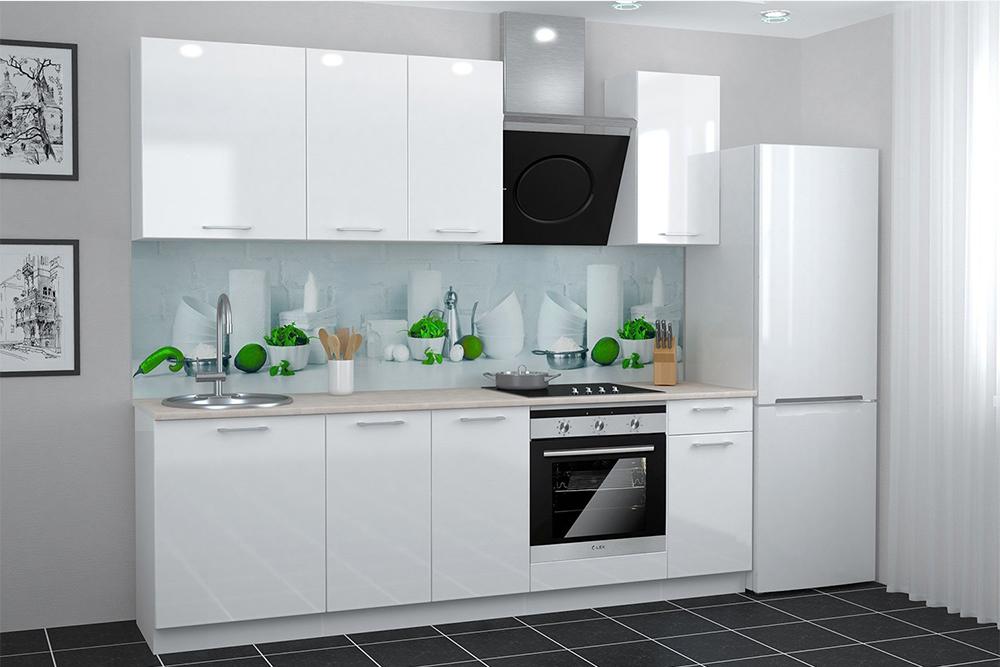 дизайн кухни в белом стиле
