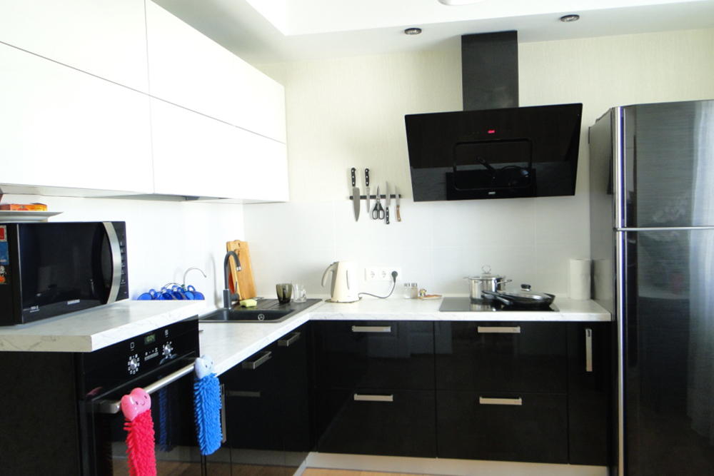 идея бело черной кухни, 3, Черно-белая кухня Черно-белая кухня