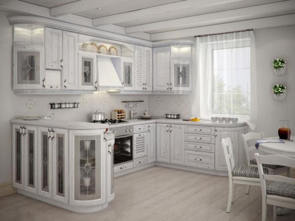 Кухни белого цвета в стиле классика Киев