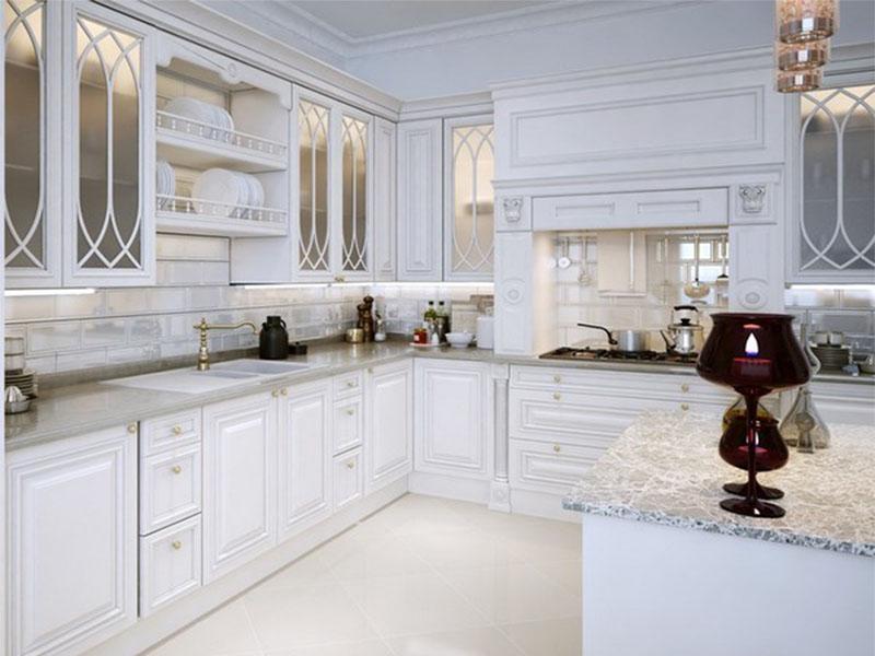 Кухня белая классика Киев на заказ