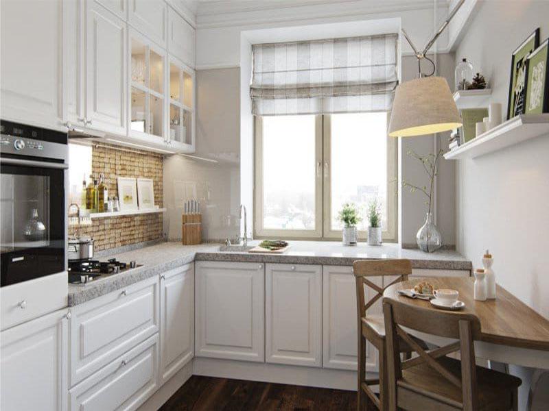 Кухня в белом цвете классический стиль