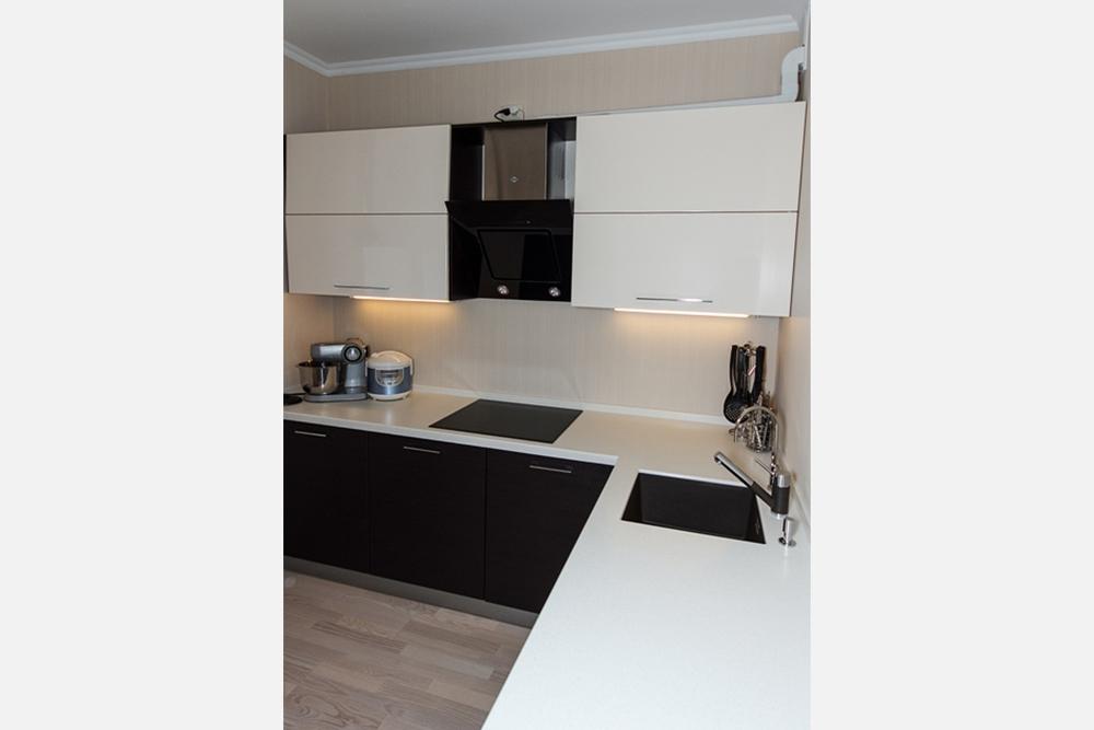 кухня вчерно белом стиле