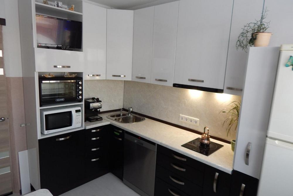 кухня в черно белом цвете ФОТО, 2, Черно-белая кухня Черно-белая кухня