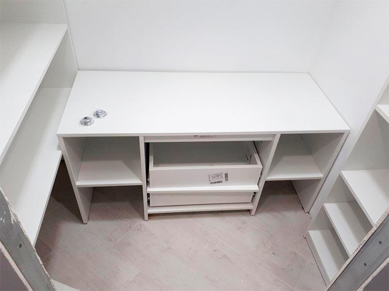 меблирование кладовой2, 16, Белая кухня из дерева Белая кухня из дерева на заказ