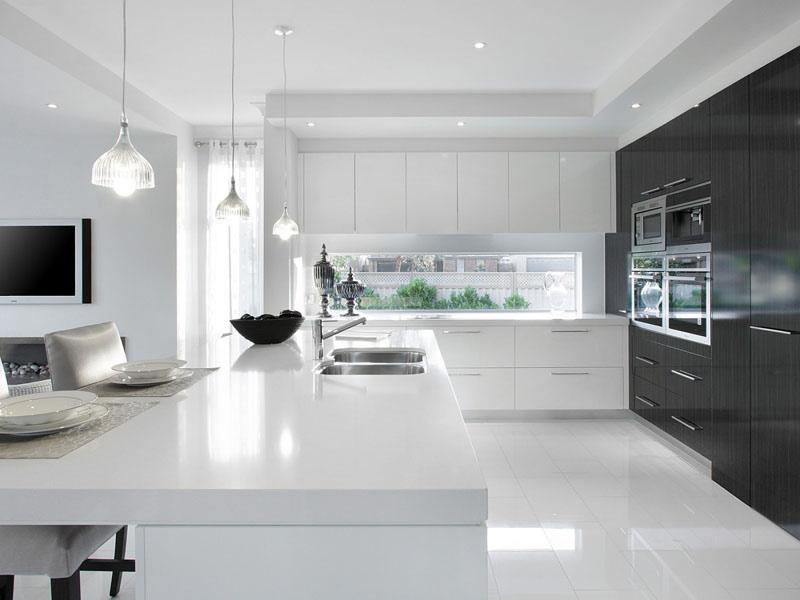 белая кухня белая столешница цена