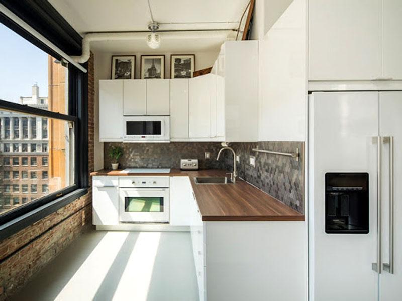Белая кухня лофт под заказ
