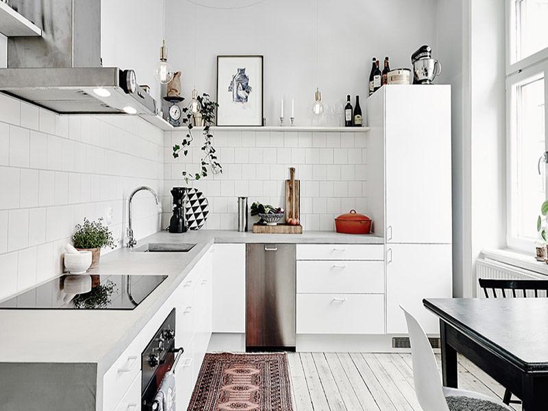 белая кухня минимализм Вишневое