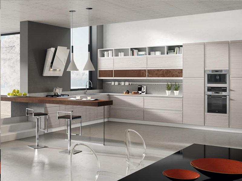 белая кухня модерн Вишневое