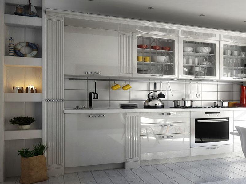Белая кухня неоклассика на заказ