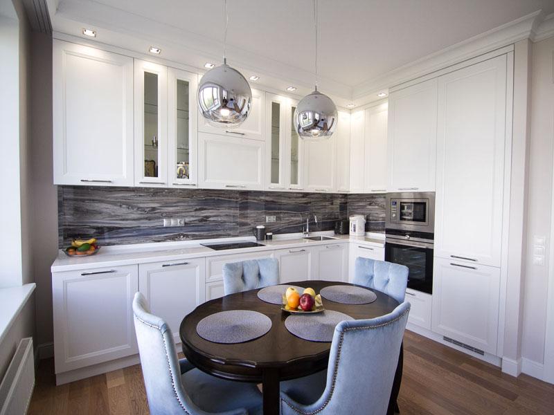 Белая кухня неоклассика фото