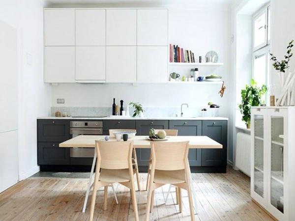 Белая кухня под заказ в скандинавском стиле
