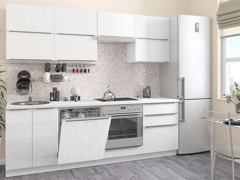 белая кухня с белой столешницей Киев