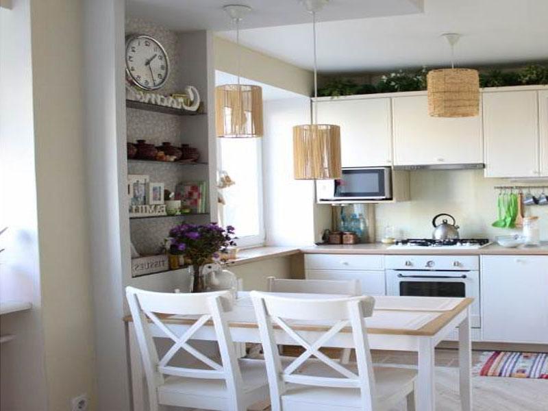 Белая кухня скандинавская