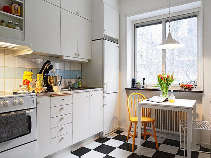 Белая кухня скандинавский стиль