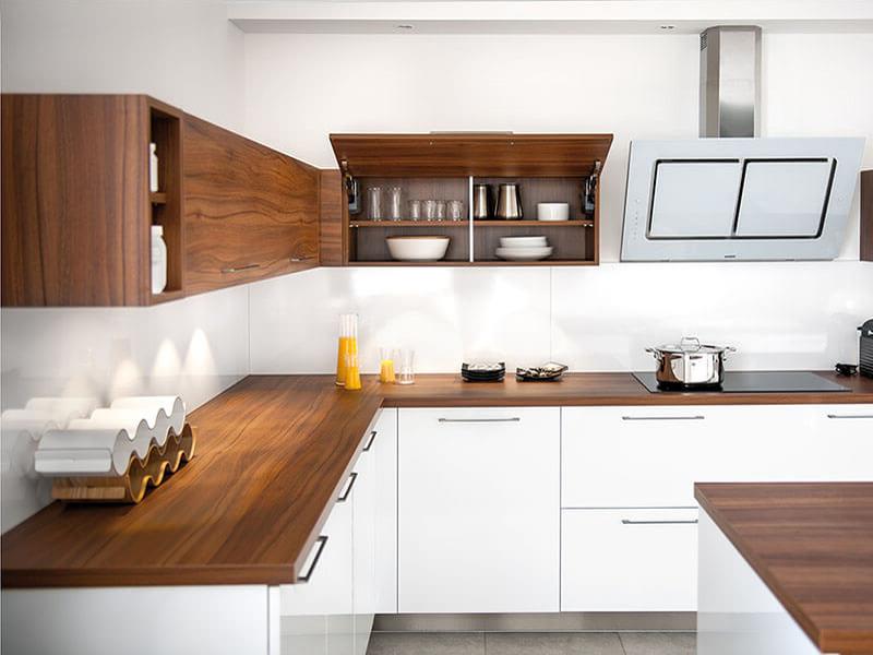 белая кухня столешница под дерево купить