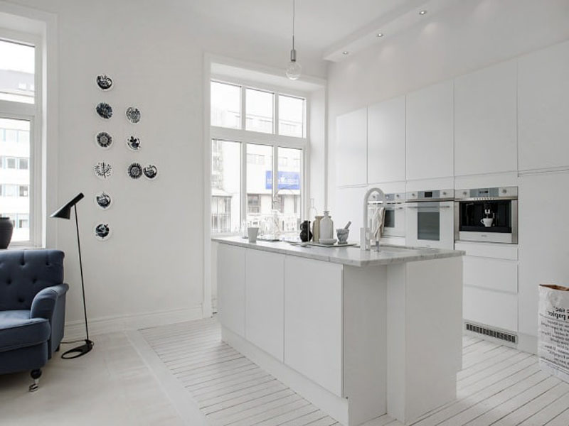Белая кухня в скандинавском стиле на заказ