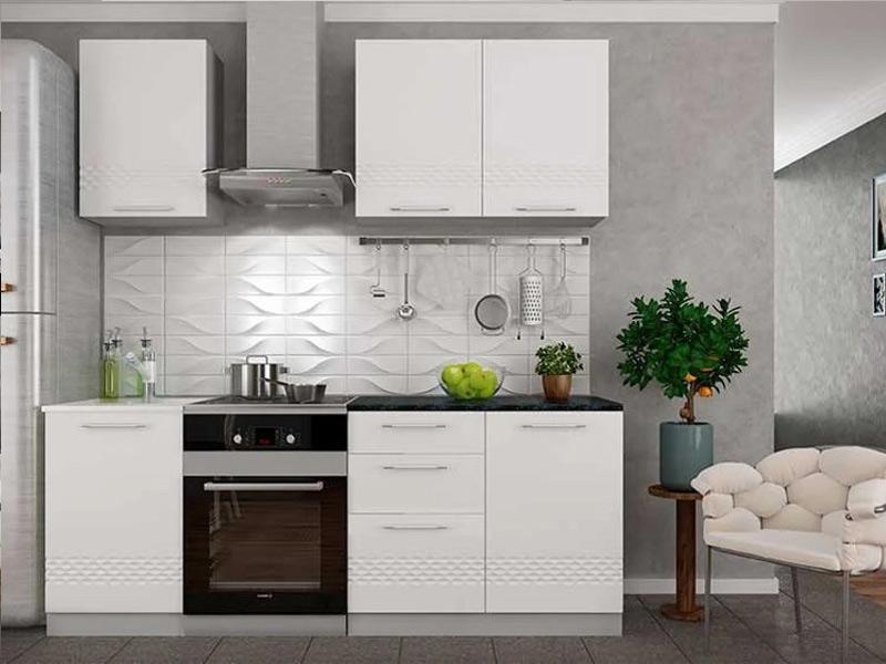 белая матовая кухня фото