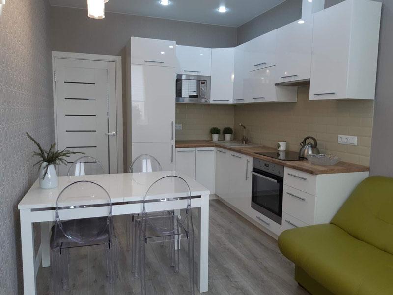 belye glyancevye kuhni kiev, 7, Белая глянцевая кухня белая глянцевая кухня