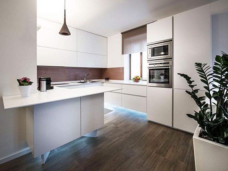 белый кухоный гарнитур модерн