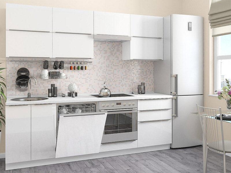белый матовый фасад кухни