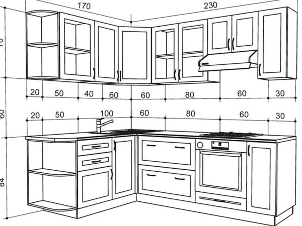чертеж кухни