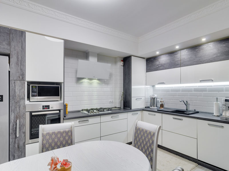glyancevaya belaya kuhnya kiev, 1, Белая глянцевая кухня белая глянцевая кухня