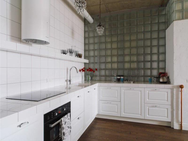 Изготовление белой кухни в стиле лофт