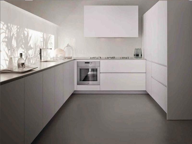 кухня матовая белая фото
