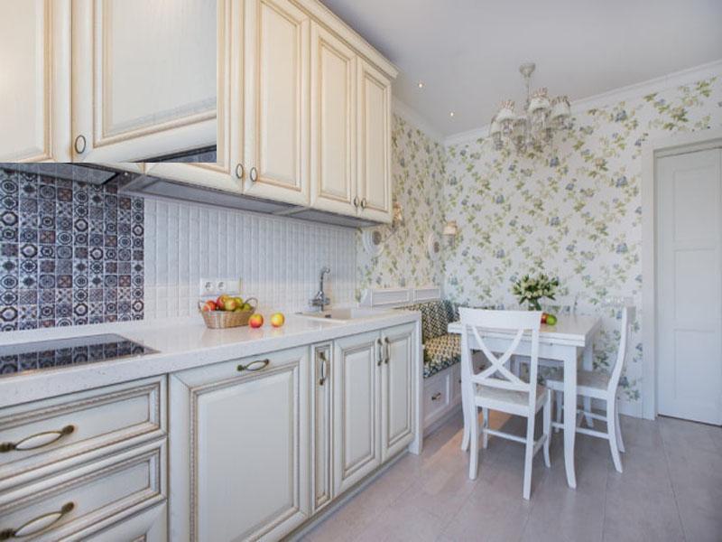 Кухня белая в стиле прованс под заказ