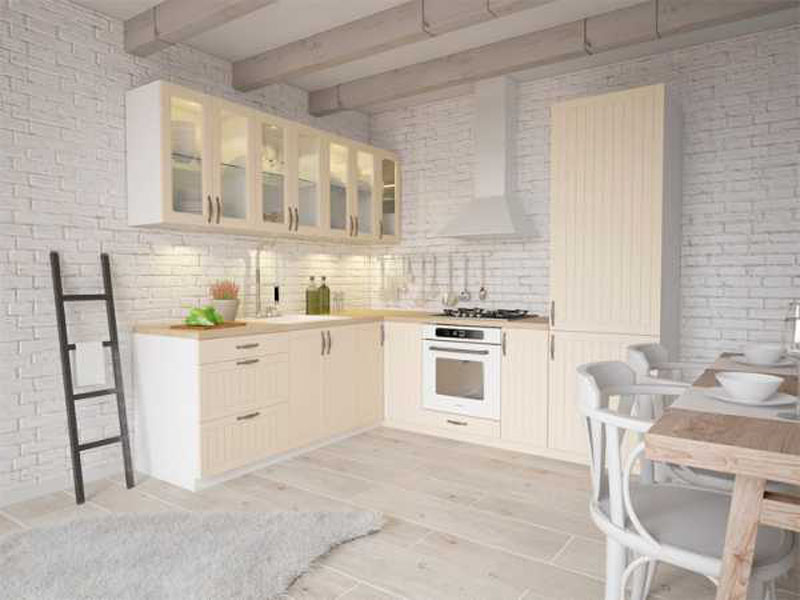 Кухня белого цвета в скандинавском стиле