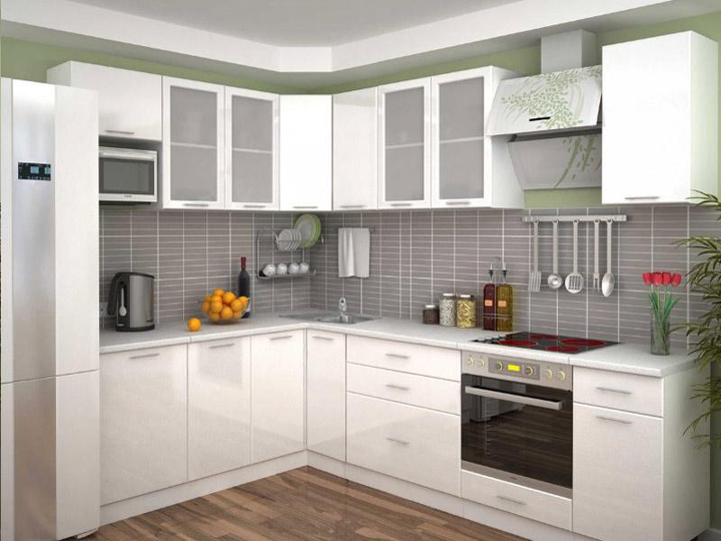 кухня матовая белая