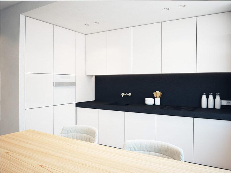 кухня минимализм белая