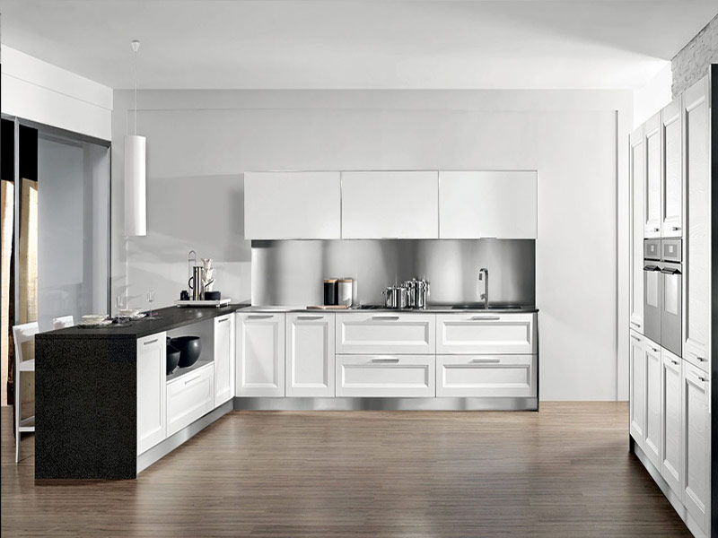кухня модерн белая