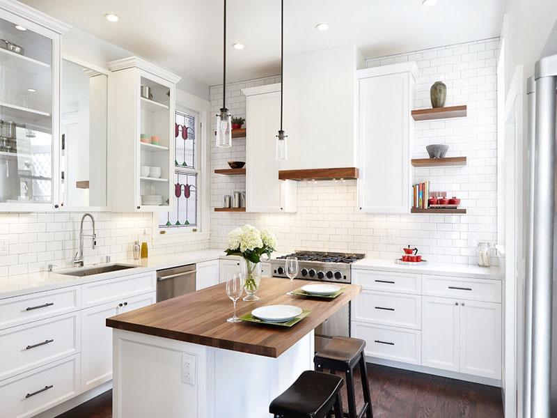 Кухня в белом цвете скандинавский стиль