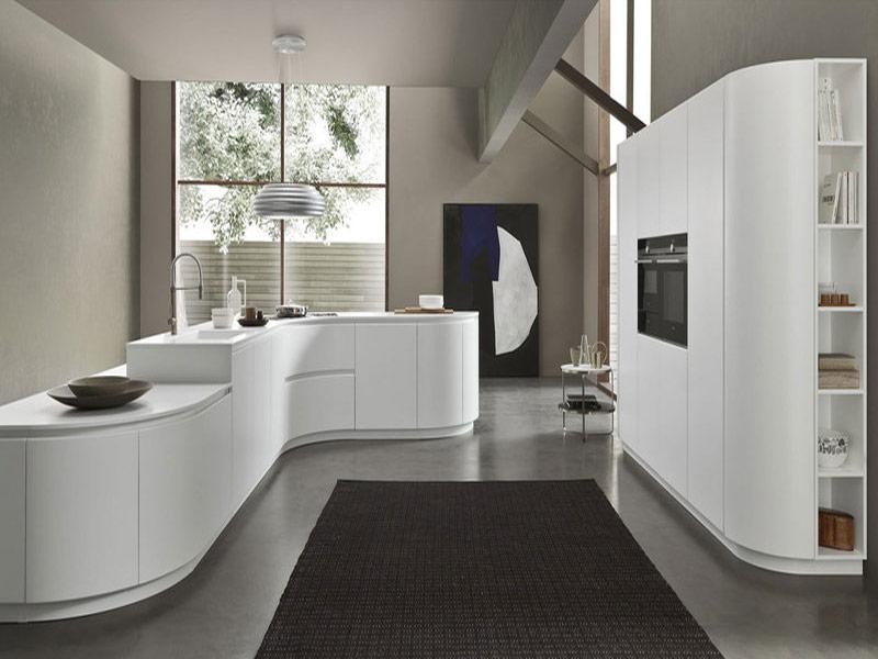 кухня в белых тонах модерн дизайн
