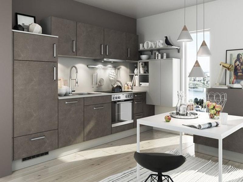 кухня в серо белом цвете