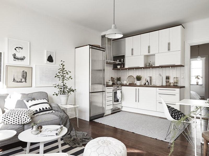 Кухня в скандинавском стиле белая