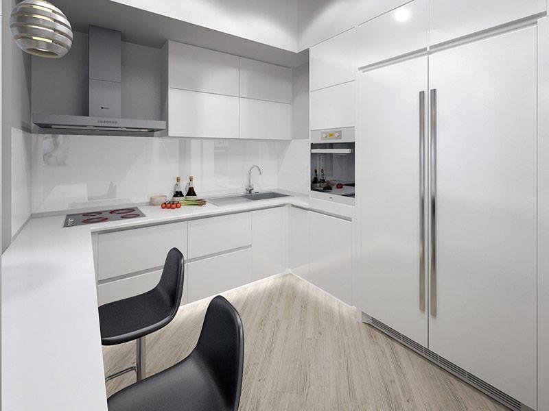 кухня в стиле минимализм в интерьере