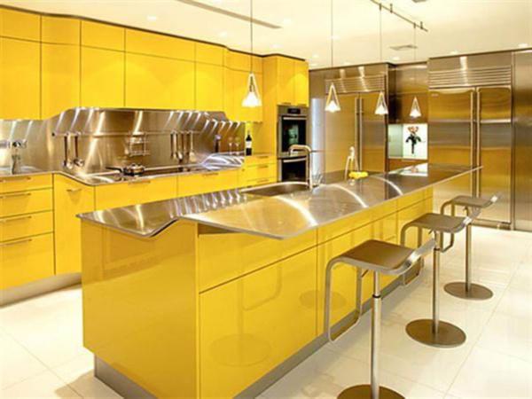 Кухня желтого цвета премиум класса