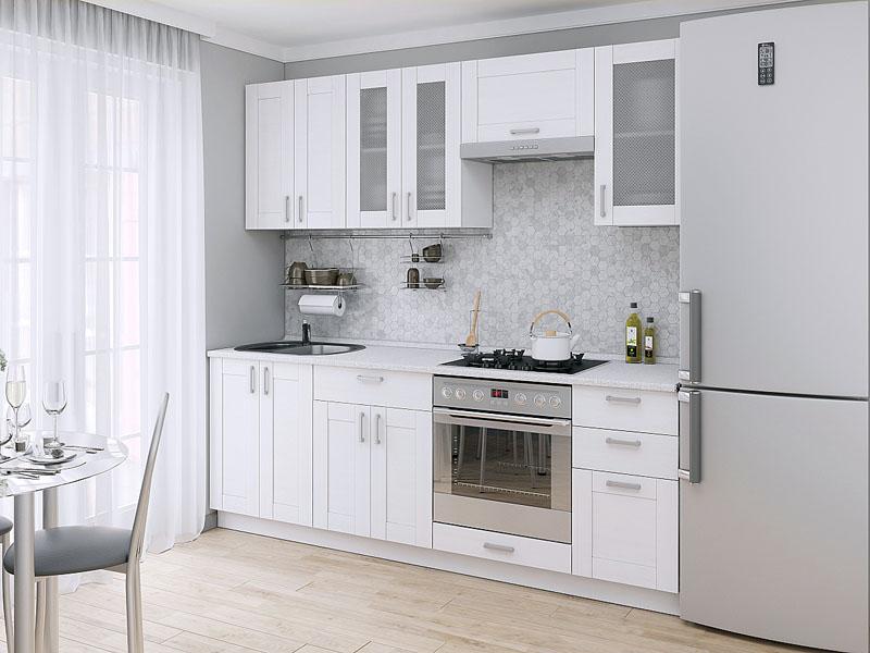 Лофт дизайн белой кухни